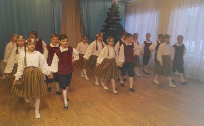 У нас в гостях дети танцевального кружка Нарвской Эстонской Гимназии
